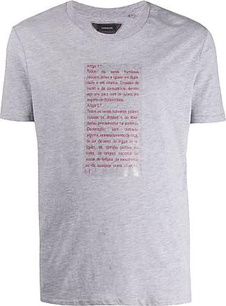 Inês Torcato Camiseta mangas curtas com estampa de texto - Cinza