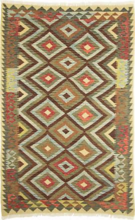 Nain Trading 244x156 Oriental Rug Kilim Afghan Beige/Brown (Wool, Afghanistan, Handwoven)