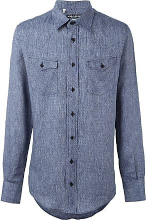 Dolce & Gabbana Camisa com padronagem - Azul