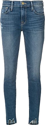 Frame Denim distressed skinny jeans - Azul