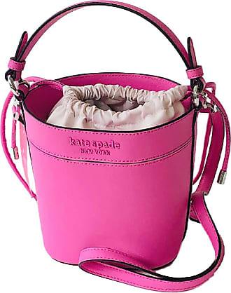 Kate Spade New York Cameron Monotone Small Bucket Bag Bright Peony Pink