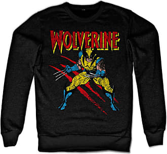 MARVEL Wolverine Scratches Sweatshirt (Black), Medium