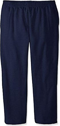 Fruit Of The Loom Mens Pocketed Open-Bottom Sweatpant, Navy, XXX-Large