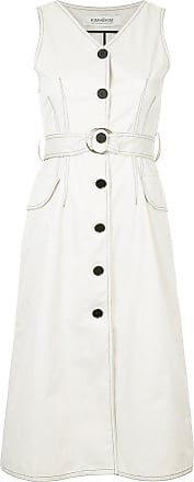 Kimhekim sleeveless shirt dress - White