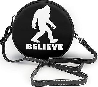 Turfed Bigfoot Sasquatch Believe Fashion Round PU Crossbody Handbag Round Shoulder Bag For Women Girls