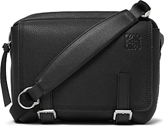 Loewe Military Xs Full-grain Leather Messenger Bag - Black