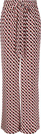 Diane Von Fürstenberg Calça palazzo com estampa geométrica - Vermelho