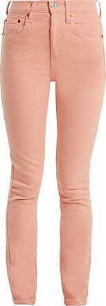 Re/Done Re/done Originals - High Rise Skinny Jeans - Womens - Pink