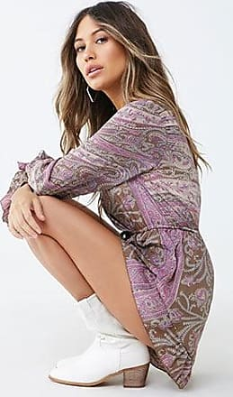Forever 21 Forever 21 R By Raga Paisley Print Romper Pink/multi