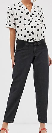 Asos Maternity ASOS DESIGN Maternity soft peg jeans in washed black with back tab detail