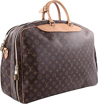 0aba448edd47 Louis Vuitton Alize Bandouliere 2 Poches 866494 Brown Coated Canvas Travel  Bag