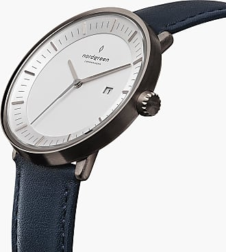 Nordgreen Philosopher - Gun Metal | Navy Blue Leather - 40mm / Gun Metal