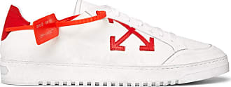 Off-white 3.0 Polo Distressed Leather-trimmed Twill Sneakers - White