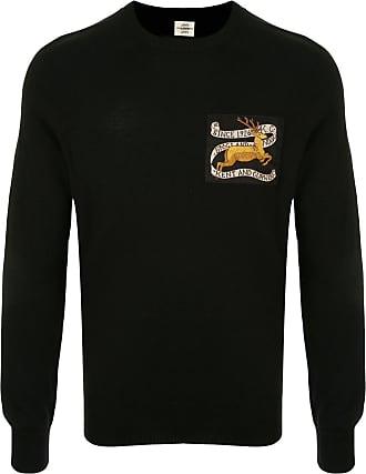 Kent & Curwen deer patch crew neck jumper - Black