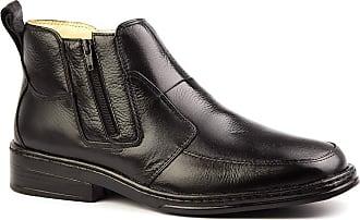 Doctor Shoes Antistaffa Botina Masculina 916 em Couro Floater Preto Doctor Shoes-Preto-39