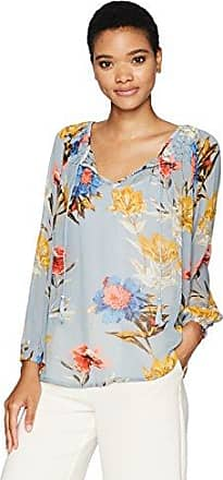 NWT Lucky Brand Top Shirt Blue Floral pattern with open back SM and LG NEW