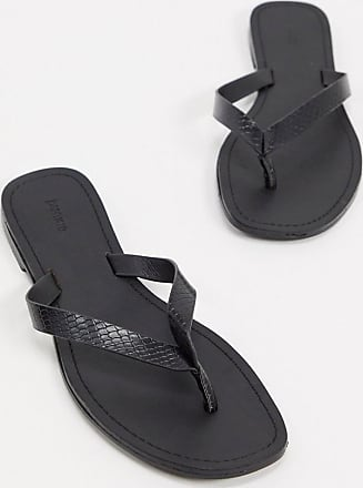 Pimkie toepost sandals in black