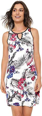 Rovitex Vestido Rovitex Curto Floral Off-white