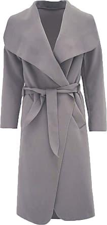 Parsa Fashions Malaika Womens Ladies Waterfall Long Full Sleeves Cape Cardigan Belted Jacket Trench Coat - Available in PLUS SIZES UK 8-20 (Plus Size (UK 20-22), Moc