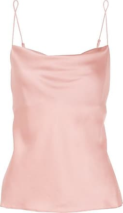 Skin Ranya Draped Stretch-silk Satin Camisole - Antique rose