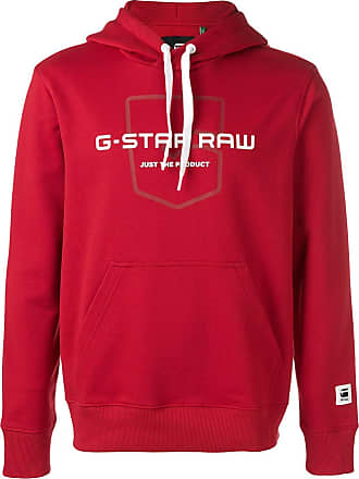 G-Star Raw Research logo printed hoodie - Red