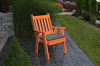 A & L Furniture A & L Furniture Poly Traditional English Chair, Orange