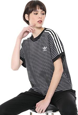 76363f08b adidas Originals Camiseta adidas Originals 3 Stripes Tee Preta