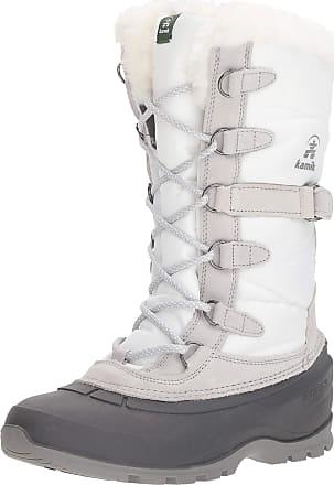 kamik SNOVALLEY2 Womens Snow Boots, White (White-WHT), 4 UK (37 EU)