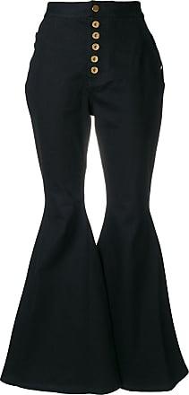 Ellery Calça jeans flare cintura alta - Preto