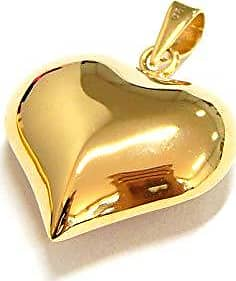 Prado Joias Pingente Em Ouro 18k Coração Gordo Oco