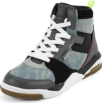 Zumba Air Classic Remix High Top Fitness Workout Dance Shoes for Women, Denim, 3.5 UK