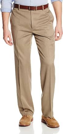 Van Heusen mensStraight Fit Flat Front Traveler Ultimate Dress Pant Dress Pants - Beige - 29W x 30L
