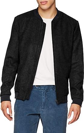 Selected Homme Mens Slhbenny Bomber Jacket W, Black (Black Detail:Black/Grey Houndtooth), X-Large