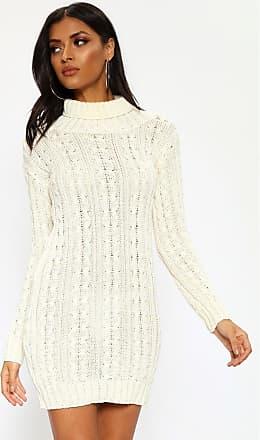 4384cb30dd4 I Saw It First Cream Roll Neck Cable Knit Dress - XL XXL   WHITE