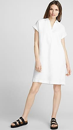 Contemporaine Loose pure linen Johnny-collar dress