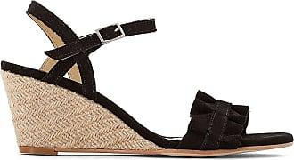Sandales compensées cuir bleu marine Tommy Hilfiger | La Redoute