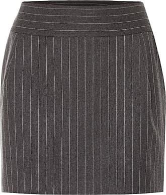 Alexandre Vauthier Pinstriped wool-blend miniskirt