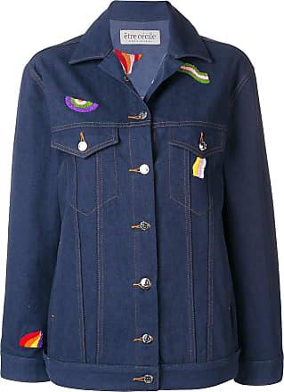 être cécile embroidered denim jacket - Blue