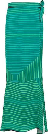Amir Slama long printed skirt - Green