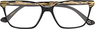 Etnia Barcelona Armação de óculos quadrada com padronagem geométrica - Preto