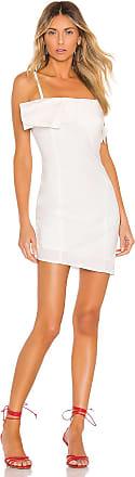 Kendall + Kylie Poplin Draped Dress in White