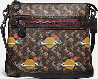 Coach Olive Crossbody With Horse And Carriage Print And Planets in Brown/Multi