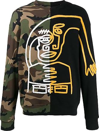 Haculla split camo sweatshirt - Black