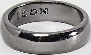 Icon Brand Anello a fascia piombo-Argento