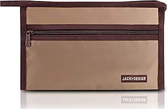 Jacki Design Necessaire Envelope Essencial Iii Poliéster Marrom - Jacki Design