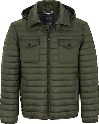 Calamar Menswear Quilted jacket zip-off hood CALAMAR green