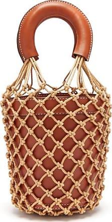 Staud Moreau Macramé And Leather Bucket Bag - Womens - Brown