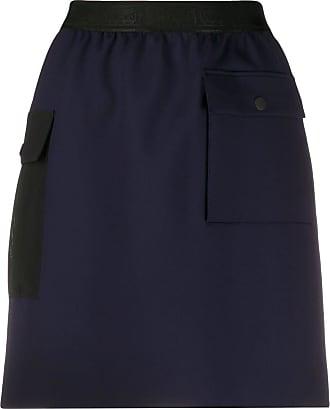 Wolford logo waistband mini skirt - Azul