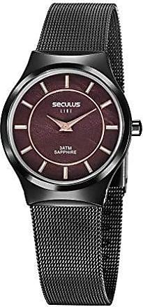 Seculus Relógio Seculus Feminino Ref: 20772lpsvps1 Slim Black