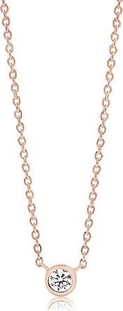 Sif Jakobs Jewellery Halskette Sardinien Uno - 18K rosé vergoldet mit weißen Zirkon